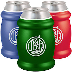 Metallic Non Collapsible KOOZIE R Coolers Custom Koozies Cheap Personal